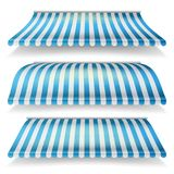 Awnings Vector Set. Different Forms. Italian Awning Striped For Market Store. Isolated Illustration Stock Photo