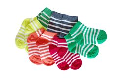 Striped baby socks Royalty Free Stock Images