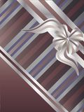 Striped background. Decorative striped background with ribbon and bow Stock Images