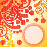 Striped background. With floral elements Royalty Free Stock Photography