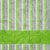 Striped background with banner. Variable width green, grey, white stripes Royalty Free Stock Photo