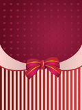 Striped background with bow Royalty Free Stock Image