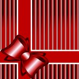 Striped background with a bow. vector. Vector Illustration of a striped red background with a bow Royalty Free Stock Photos