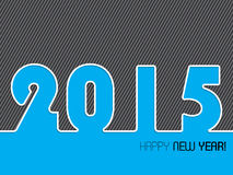 2015 striped background design. With happy new year text Royalty Free Stock Photo
