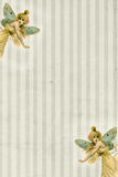 Striped background with fairy butterflies Stock Photo