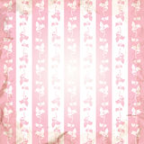 Striped background with floral ornament in the grunge style. Vector illustration Royalty Free Stock Images