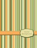 Striped background. Striped green orange pattern as a cover Stock Images