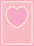 Striped Background With Heart Shaped Copy Space an Royalty Free Stock Image