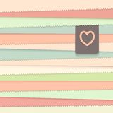 Striped background with label Stock Image