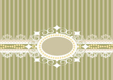 Striped background with lace Stock Images