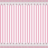Striped background with lace border Royalty Free Stock Image