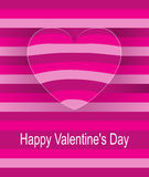 Striped background in pink tones with surround heart Stock Images