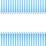 Striped background with ribbon. Stock Photography