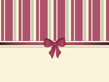 Striped background with ribbon and bow border Royalty Free Stock Photos
