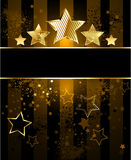 Striped background with stars Stock Photography