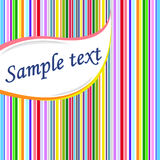 Striped background for text. Vector illustration. Royalty Free Stock Photos