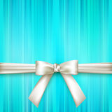 Striped background with a white bow Royalty Free Stock Images