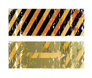 Striped backgrounds. Two striped backgrounds with arrow Royalty Free Stock Photo