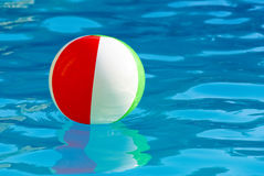Striped ball in the pool Stock Images