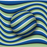 Striped ball rolling along the striped surface. Abstract vector optical illusion Royalty Free Stock Images