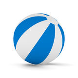 Striped ball on white background Royalty Free Stock Photos