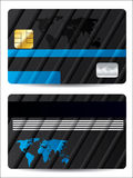 Striped bank card design Royalty Free Stock Images