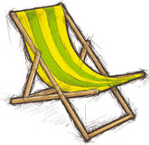 Striped beach chair Stock Images