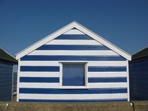 Striped beach hut in Southwold Stock Images