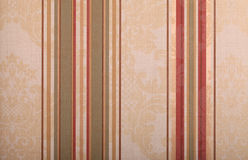 Striped beige vintage wallpaper background Royalty Free Stock Photo