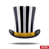 Striped big gentleman hat cylinder Stock Photo