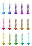 Striped Birthday Candles Stock Photography