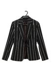Striped black jacket isolated. On the white Royalty Free Stock Photography