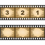 Striped blank film strip Royalty Free Stock Images