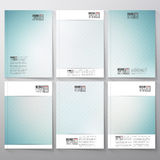 Striped blue background. Brochure, flyer or Stock Images