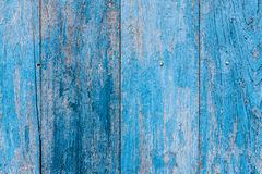 Striped blue plank wood wall Royalty Free Stock Images