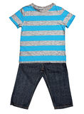 Striped blue t-shirt and jeans Royalty Free Stock Photography