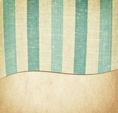 Striped blue and white fabric texture on vintage Royalty Free Stock Photography
