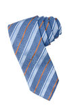 Striped blue, white and orange tie Stock Photography
