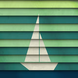 Striped boat Royalty Free Stock Photo