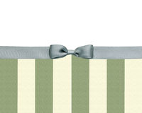 Striped  with a bow Royalty Free Stock Image