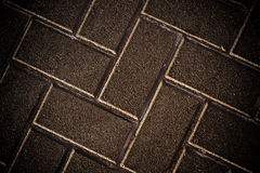 Striped brick sidewalk, texture Royalty Free Stock Image
