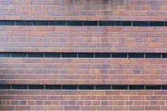 Striped brick wall Stock Photography
