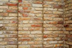 Striped bricks wall Stock Photos