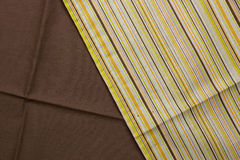 Stripedbrown beige canvas texture or background Stock Images