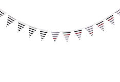 Striped bunting on white background Royalty Free Stock Image