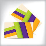 Striped business card with ribbons Royalty Free Stock Photo