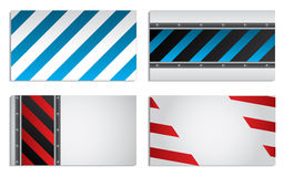Striped business card set Royalty Free Stock Images