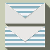 Striped business card set Royalty Free Stock Photos