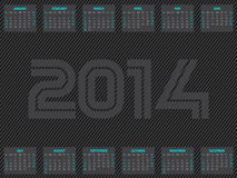 Striped 2014  calendar design. Striped calendar design for the year 2014 Royalty Free Stock Photo