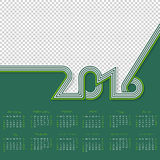 Striped calendar for year 2016 with place for photo Royalty Free Stock Images